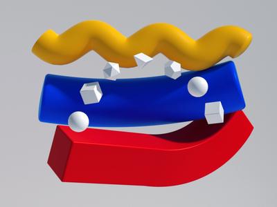 Venezuela venezuela lettering typography branding motion illustration character c4d lowpoly 3d