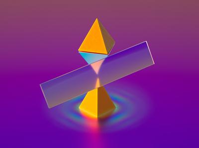 Totem ripple energy render totem sculpture art 3d neon