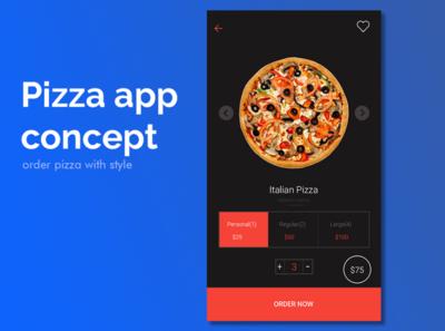 Pizza App Concept