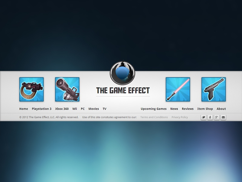 Footer for TheGameEffect footer games icon logo