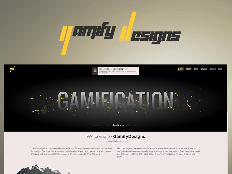 New portfolio site for GamifyDesigns portfolio animation website particles