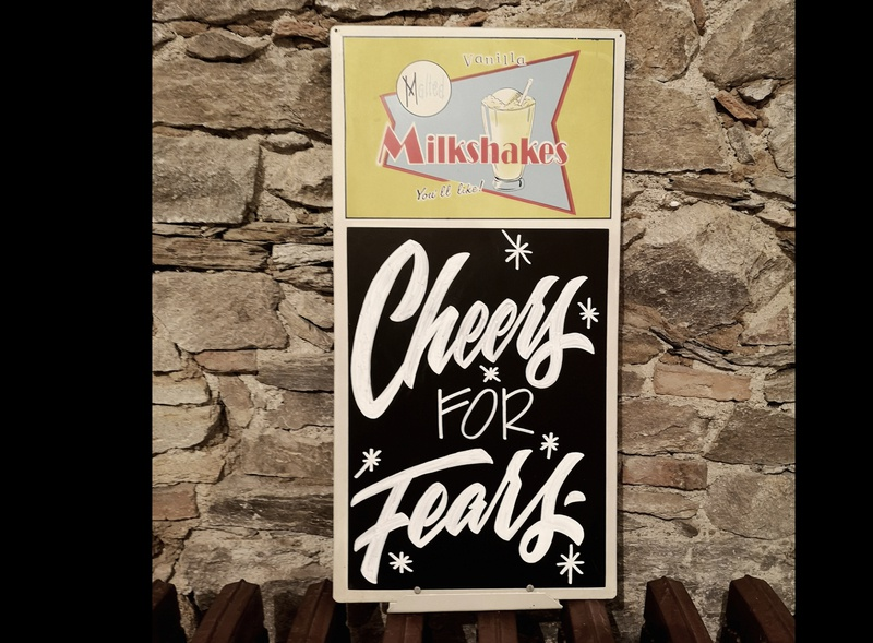 CHEERS FOR FEARS hand-lettering words lettering artist drawings pencil ink design graphic illustration typography
