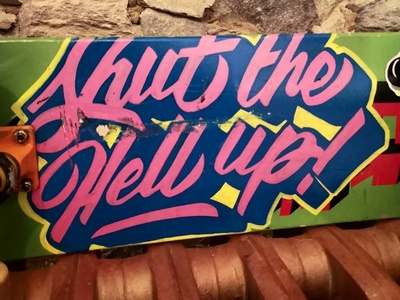 Shut the Hell up! ❤️ hand-lettering words lettering artist drawings pencil ink design graphic illustration typography