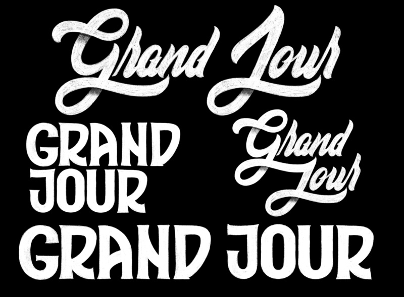 Grand Jour logo hand-lettering words lettering artist drawings pencil ink design graphic illustration typography