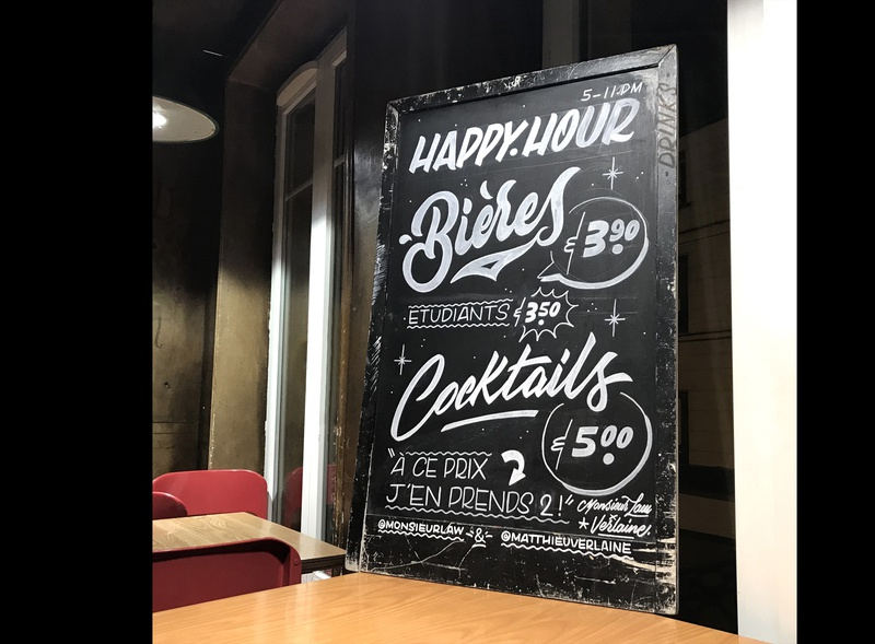 HAPPY HOUR SIGN hand-lettering words lettering artist drawings pencil ink design graphic illustration typography