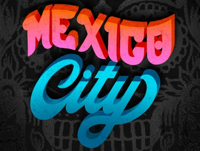 MEXICO CITY hand-lettering words lettering artist drawings pencil ink design graphic illustration typography