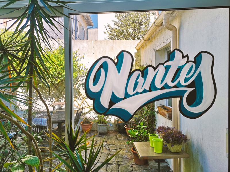 NANTES signpainter painting type handmadefont handlettering hand-lettering words lettering artist drawings pencil ink design graphic illustration typography