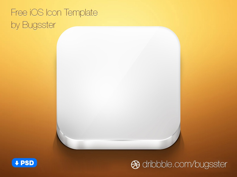 Free Ios Icon Template Psd By Taras Shypka Dribbble Dribbble