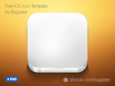 Free iOS Icon Template (PSD) by Taras Shypka - Dribbble