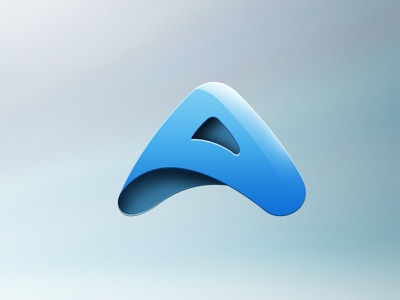 Arpaso Logo logo identity branding blue a letter lettering