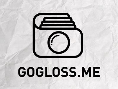 Gogloss.me Logo photo camera vector minimal logo branding identity gloss