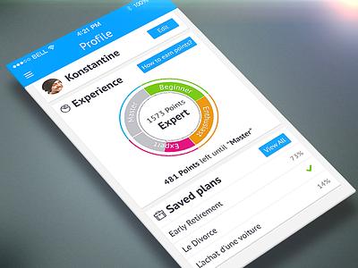 Profile Page app mobile ios7 ios iphone design flat diagram chart