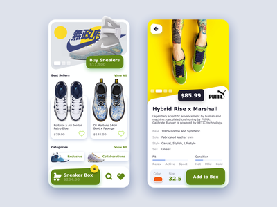 Mobile Shoe Marketplace shop sneakers marketplace ecommerce ux design uxui ux design vector mobile iphone icon app ios