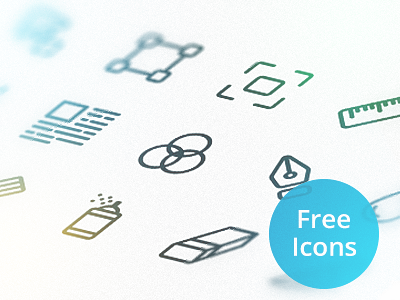 Free Icon Set free icon setm pack psd ai vector freebie