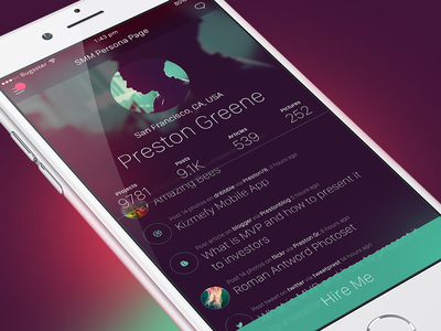 SMM Social Network persona blur iphone ios smm marketing profile mobile app