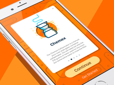 Onboarding Сard Illustration for Coffee App mobile icon illustration vector ios iphone app