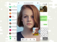 ICQ iOS App Redesign Concept video chat icons design interaction ux ui concept iphone mobile app ios