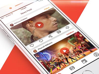 Video Editor App design interface ux ui red social iphone app editor video mobile ios