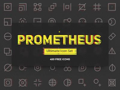 Prometheus Free Icon Set freebie vector ai sketch pack set icon free