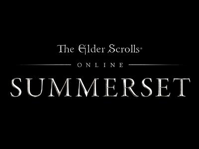 Summerset logo type summerset the elder scrolls logo texturing 3d