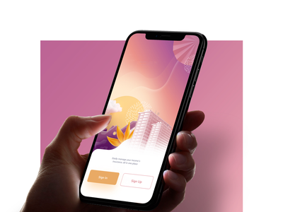 Splash Screen for Insurance App vector design mobile app illustration banking app banking ui