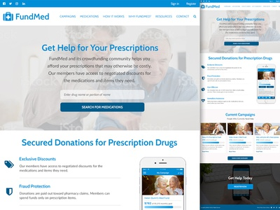 FundMed Website Mockup