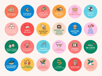 Social Media Bingo Challenge illustrator stay home lifestyle sticker social share doodle cute bingo work from home vector psd png creative social media quarantine daily lifestyle design sticker colorful freebie graphic design