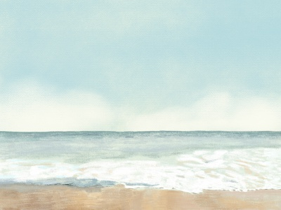 Beach Illustration | Color Pencil Art summer scenery wallpaper background adobe digital art graphic art art color pencil beach artwork illustrator landscape nature psd freebie illustration graphic design design vector