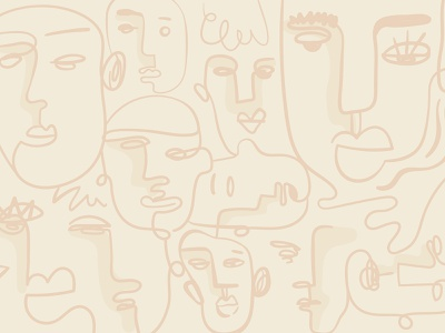 Elegant Line Art | Abstract Face Background face doodle drawing artwork abstract art abstract illustration aesthetic minimal simple line art wallpaper background photoshop illustrator psd illustration freebie graphic design design vector