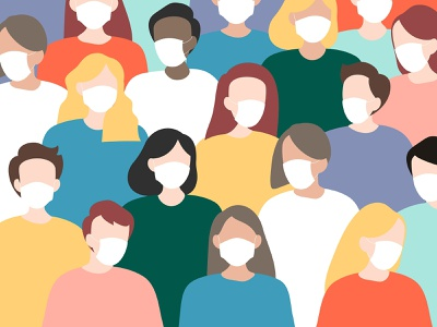 The New Normal Background | Diverse People Collection community graphics vector art wallpaper background diveristy coronavirus covid 19 the new normal people psd illustrator illustration vector graphic design design characters man person woman