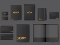 Minimal corporate identity mockup (vector)