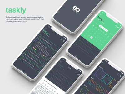 Taskly - Mobile Application UI