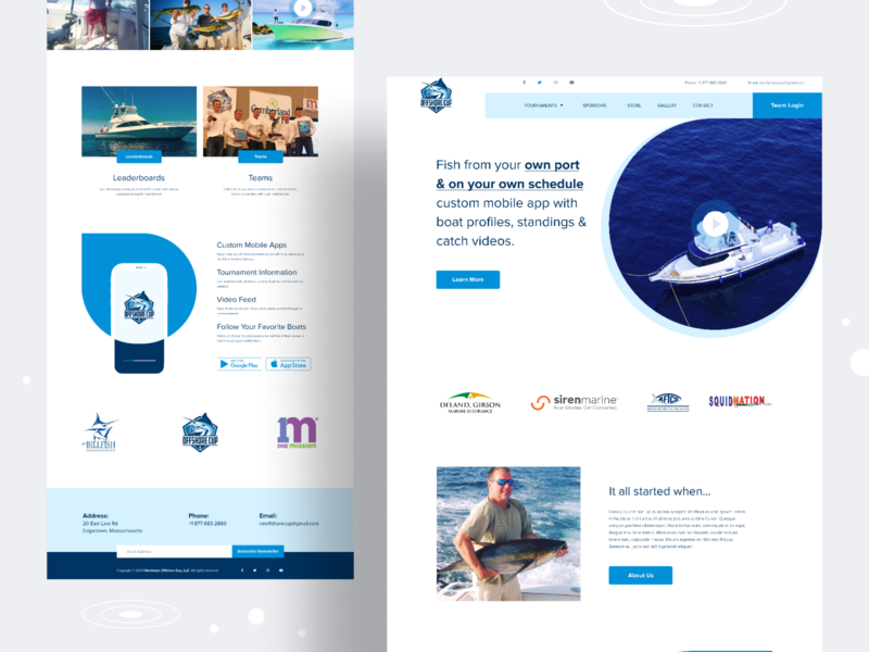 Offshore Cup Redesign Concept brand tournament ocean club yacht fishing web ux uidesign typography 2020 concept design uiuxdesign minimal