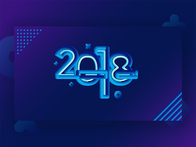 New Year 2018 Abstract Vector Background