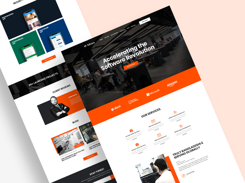 Template Design for Software Company by Radowan Nakif Rehan on Dribbble