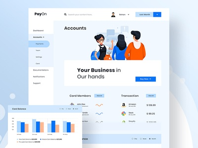 PayOn - Payments Dashboard (Formal Look)