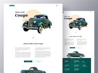 1936 Ford Coupe | Car Landing Page Design