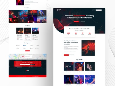 Music event landing page