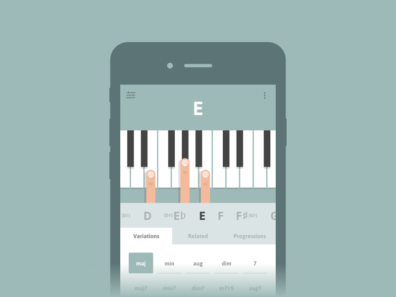 Cheeky Fingers App Piano Chord By Nic Mulvaney Dribbble
