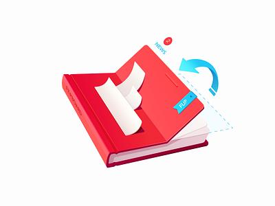 Flipboard paper book shadow style flip color news flipboard icon app