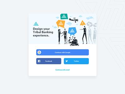 Tribal Builder - Login Screen product design product ui ux design app flat branding illustration