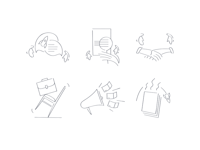Legal service icons landing page outline service legal illustrator icons pack icons minimal flat iconography icon set icon