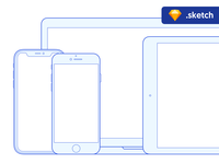Free Sketch mockups: Apple devices