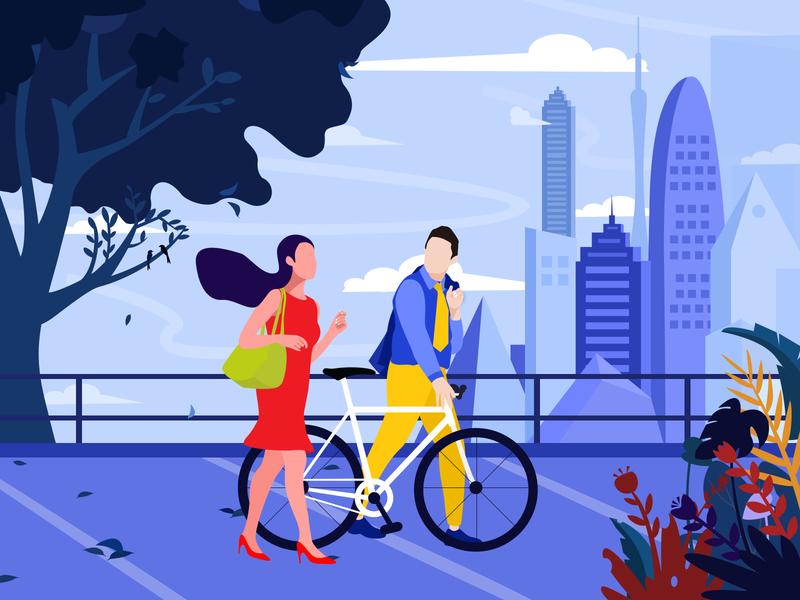 Walking illustration