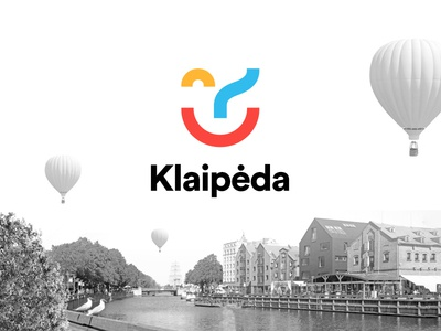 Logo for city Klaipeda lithuania klaipeda bold minimalistic clean smile colors city logo