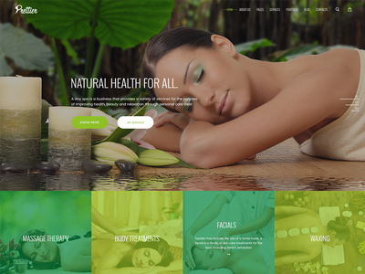 Prettier - Beauty Salon & Spa Template wordpress joomla html spa salon beauty ux ui