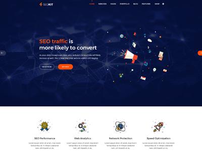 SEOKIT - Digital Marketing & SEO Company Template by Asif