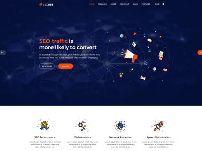 SEOKIT - Digital Marketing & SEO Company Template wordpress joomla html agency digital marketing seo