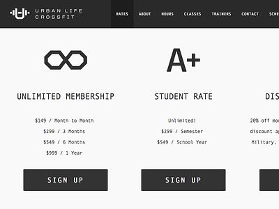 Urban Life CrossFit crossfit website web brand identity logo logomark u icon ui ux interface