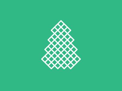 Tree tree christmas xmas holiday icon outlines
